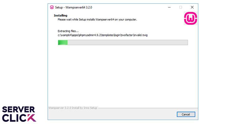 آخرین مرحله از نصب ومپ