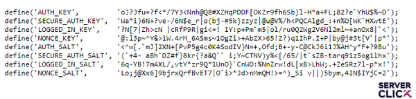 رمزنگاری وردپرس SALT
