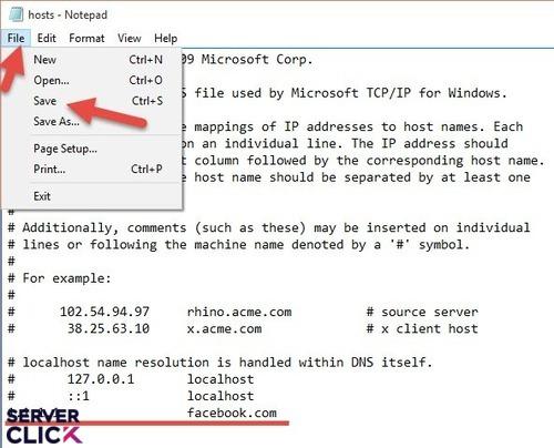 نحوه سیو کردن فایل Notepad